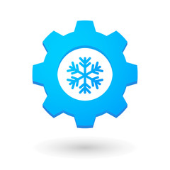 Gear icon with a snow flake