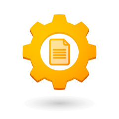 Gear icon with a document