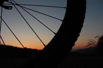 Vorderrad eines Mountainbikes