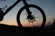 Leinwanddruck Bild - Vorderteil eines Mountainbikes