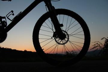 Vorderteil eines Mountainbikes