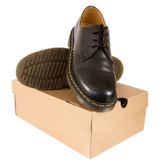 Black Men's Shoes with box
