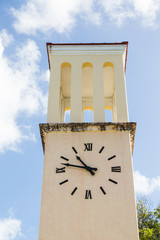 Yellow Stucco Clock Tower