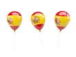 Obrazy na płótnie, fototapety, zdjęcia, fotoobrazy drukowane : Air balloons with flag of spain