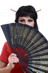 Fashion geisha in studio