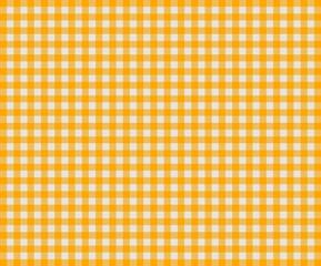 Kariertes Tischdeckenmuster orange