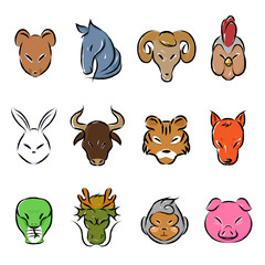 Animal zodiac icon