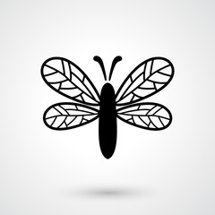 dragonfly icon vector