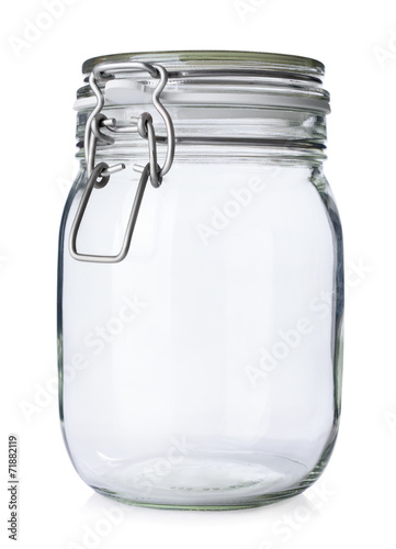 canvas print picture Closed jar for canning isolated on white background