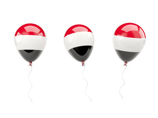 Air balloons with flag of yemen