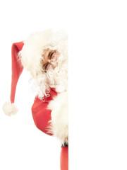 Weihnachtsmann drückt Enter Taste