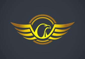 eagle wing emblem identity vector logo