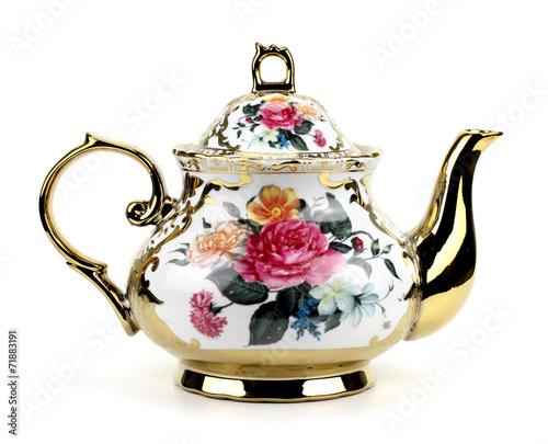 China teapot isolated on white background - 71883191