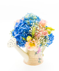 bouquet flower Hydrangea isolated on white