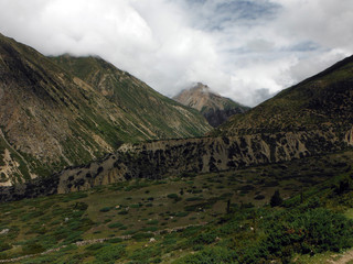 High Himalayan Valley during Monsoon