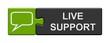 Leinwandbild Motiv Puzzle Button grün grau: Live Support
