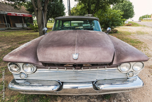 canvas print picture Alter Chrysler-Cadillac an der Route 66, USA