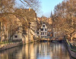 Water Canal In Strasbourg