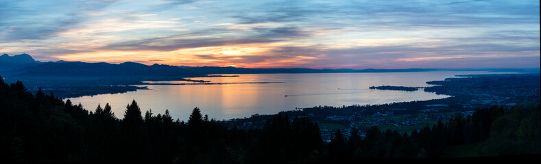 Bodensee im Sonnenuntergang