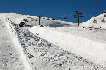 Ski and snowboard park in Austria