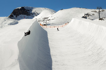 Ski and snowboard park in Austria