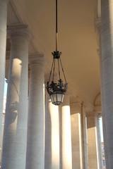 Eine alte Lampe im Vatikanstaat