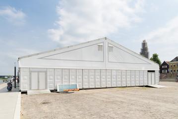 white event tent