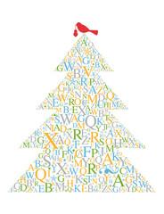 Weihnachtsbaum mit Vogel