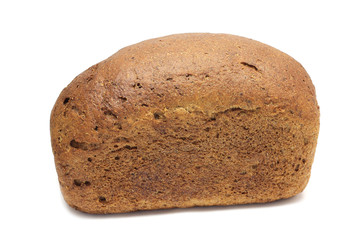 Buns gray rye bread on a white background