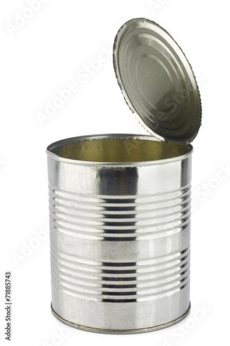 Tin isolated on white background - 71885743