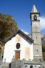 The church of S. Maria Assunta at Russo on Onsernone valley