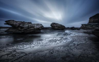 Tempestuous Coalcliff seascape coastal landscape