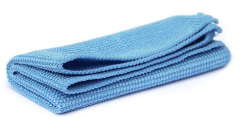 Close up of Blue towel
