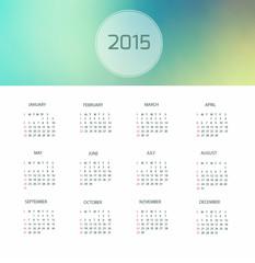 Calendrier 2015 design minimaliste