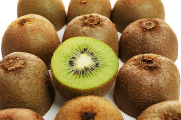 Juicy kiwi close-up