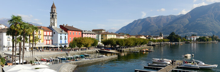 The waterfront of Ascona on Switzerland