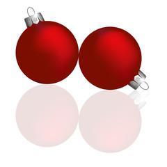 Christmas ball, red