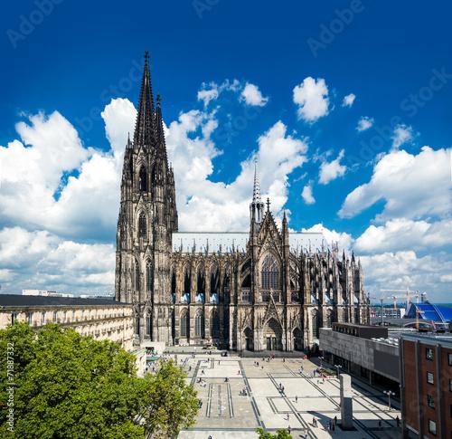 canvas print picture Köln im Sommer