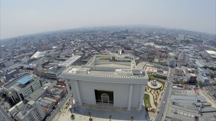 Aerial View from Temple of Solomon in São Paulo, Brazil