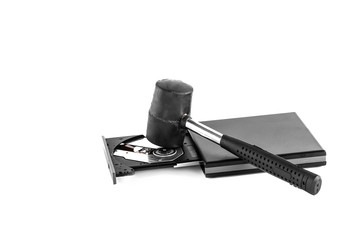 hammer and CD-ROM Drive