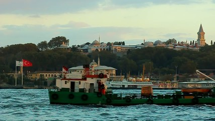 Transport ship in Istanbul