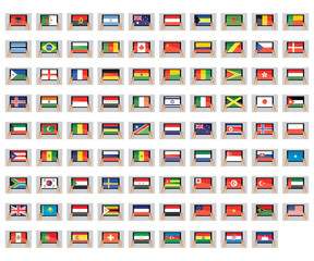 Illustrated Set of World Flags - Tablet PC