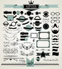 Mega Set of Vintage Labels for your Hipster designs