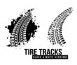 Tire track background - 71888117