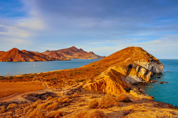 coast of Cabo de Gata-Nijar Natural Park, in Spain