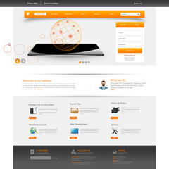 Modern web template, Ideal for business