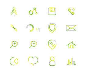 Set of thin line web icons
