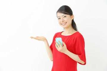 スマートフォン・若い女性