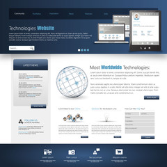 Website template design, Eps 10