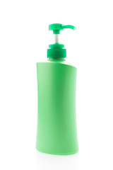 Bottle lotion isolated on white